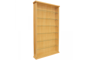 COLLECTORS - Wall Display Cabinet With Six Glass Shelves - Beech