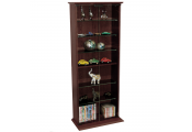 BOSTON - 116 DVD/ 316 CD Book Storage Shelves Glass / Collectable Display Cabinet - Dark Oak