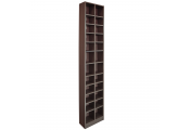 BLOCK - Tall Sleek 360 CD / 160 DVD Media Storage Tower Shelves - Dark Oak