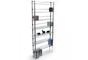 MAXWELL - 8 Tier 344 DVD / Blu-ray / 520 CD / Media Storage Shelves - Clear / Silver