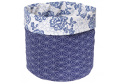 COUNTRY -  Decorative Storage Pot - Blue / White