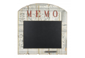 MEMO - Architectural Print Shabby Chic Memo / Blackboard - Cream / Black