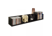 VIRGO - Gloss 84 CD / 56 DVD / Blu-ray / Media Wall Storage Shelf - Black
