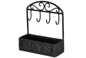 KEY - Storage Basket with Hanging Hooks - Black