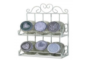 SPICE - Metal 6 Spice Bottle Storage Rack - Antique Cream