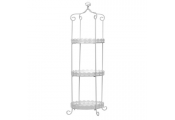 LACE - Metal 3 Tier Stand / Storage Shelves - White