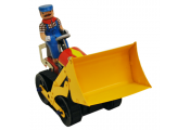 BULLDOZER - Retro Tin Collectable Ornament - Multi-coloured