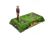 PLAY GOLF - Retro Tin Clockwork Collectable - Green / Multi-coloured