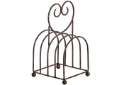 HEART - Metal Traditional Toast Rack - Brown