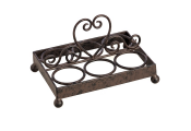 HEART - Metal Traditional 6 Egg Holder - Brown