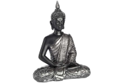 BUDDHA - Dark Meditating Buddha - Black / Grey
