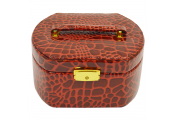 BEAUTY - Faux Alligator Jewellery Case / Travel Box - Pink
