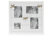 PRETTY - Wall Mounted Collage 4 Photo / Picture Frame - White