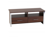 COLUMN - Modern TV Stand / Entertainment Unit - Walnut / Chrome