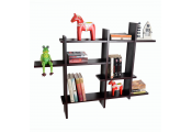 LATTICE - Floating Geometric Retro Wall Display Storage Accent Shelf - Black