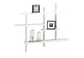 LATTICE - Floating Geometric Retro Wall Display Storage Accent Shelf - White