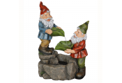 GNOMES - Quirky Cute 2ft Garden Water Feature Fountain - Multi-coloured