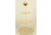 CAKE - 3 Tier Cupcake / Teatime Tray Stand / Display Shelves - Cream