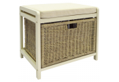 WICKLOW - Laundry Hamper / Storage Stool - Buttermilk / Cream