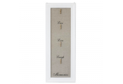 MEMORY - Live Love Laugh 4 Peg Photo Board - White / Beige
