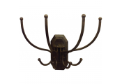 HANG EM HIGH - Wall Mounted Coat Hooks - Black