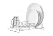 DRAIN - Metal Dish Drainer Washing Up Rack - Silver