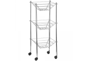 RACK - 3 Tier Metal Storage Caddy Rack - Silver