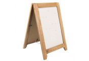 A-BOARD - Wood Jewellery Holder with Pins and Mirror  - Brown / Cream