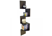 MOAR - Large 130cm Wall Mounted Floating Curved Corner Storage Shelf - Walnut