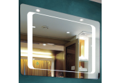 KUBE - LED Illuminated 80 x 60cm Rectangular Wall Mirror with Demister and Dimmer