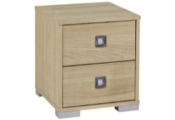 TEMPLE - Chest Of 2 Drawers / Bedside Table / Nightstand - Light Oak