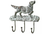 CANINE - Dog Wall Mounted Metal 3 Coat / Key Hook - Multi-coloured