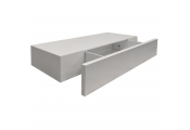 HIDDEN - 2ft / 60cm Floating Storage Shelf with Drawer - White