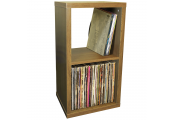 CUBE - 2 Cubby Square Display Shelves / Vinyl LP Record Storage - Oak