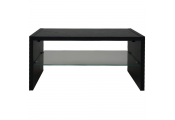 OPIE - TV Stand / Entertainment Unit / Coffee Table with Glass Shelf - Black
