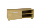 HIGHGATE - Storage TV Stand / Entertainment Unit with Cupboard - Oak