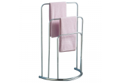STRAIT - Metal 3 Rung Towel Rail / Drying Rack - Silver