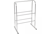 PRIM - Metal 5 Rung Towel Rail / Drying Rack - Silver
