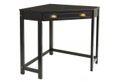 HAVEN - Compact Wooden Corner Computer Desk / Dressing Table / Craft Workstation - Black