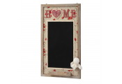 HOME - Wall Mounted Floral Blackboard / Chalkboard - Brown / Black / Red