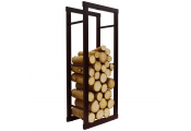 ONIDA - Metal 40cm Slimline Fireside Log Storage Rack - Black