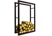 ONIDA - Metal 70cm Wide Fireside Log Storage Rack - Black
