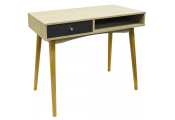 INDUSTRIAL - 1 Drawer Office Computer Desk / Dressing Table - Oak / Grey