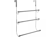 OVERDOOR - 3 Rung Metal Hanging Towel Rail - Chrome Silver