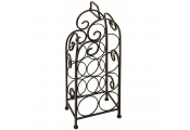 DRINK - Metal Tabletop Freestanding 7 Bottle Wine Storage Rack / Towel Tidy - Antique Silver