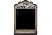 HOME SWEET HOME - Wooden Wall Mounted Blackboard / Chalkboard - Brown / Black