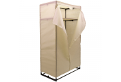 COMPACT -  Double Wardrobe / Clothes Storage with Canvas Cover - Cream