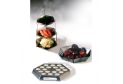 MODE - Steel Kitchen Set - Fruit Bowl with Hanging Tidy and Egg Holder