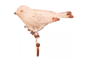 DOVE - Metal Wall Mounted Single Hanging / Coat / Towel Hook with Dove / Love Bird- White / Cream