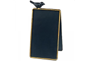 BIRD - Freestanding A-frame Blackboard / Chalkboard / Memo Board with Perching Bird